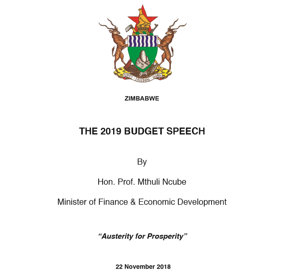 download the 2019 national budget speech austerity for